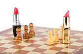 Bir satranç tahtası üzerinde müzakereler adet — Stok fotoğraf