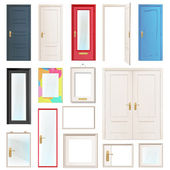 Collection of doors. Vector illustration. — Stock Vector