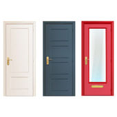 Collection doors isolated on white. Vector design. — Stock Vector