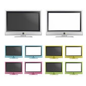 Collection of colorful TV. Vector design. — Stock Vector