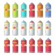 Collection of Spray color with graffiti . Vector design. - Stock Vector