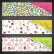 Royalty-Free Stock Vector Image: Collection of colorful banners with cute elements. Vector design.
