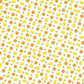 Pattern fruit. Orange and lemon. Vector design. — Stock Vector