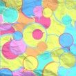 Colorful wrinkled paper. Vector design. - Stockvektor