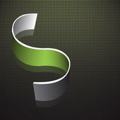 Abstract background with green curved line. Vector design. — Stock Vector