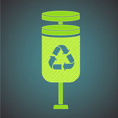 Ecologic icon of bin. — Stock Vector