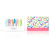 Silhouette of models printed on business card. Vector design — Stock Vector
