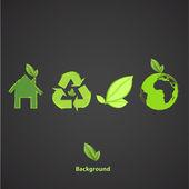 Kolekce ekologických ikon. vektorová design. — Stock vektor