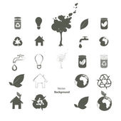 Collection of ecological icons. Vector design. — Stock Vector