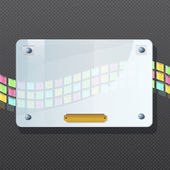 Transparentní rám z plastu na černém pozadí. vektorová design. — Stock vektor