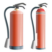 Collection of realistic extinguisher. Vector design. — Stock Vector