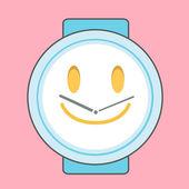 ピンクの孤立した背景を時計します。ベクトルのデザイン. — ストックベクタ
