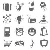 Collezione di icone. disegno vettoriale. — Vettoriale Stock