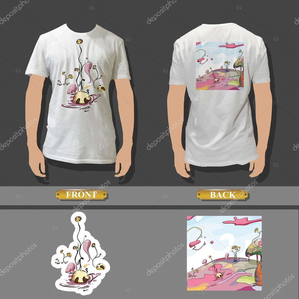 Full white t shirt template front and back with beautiful for Full size t shirt template