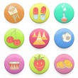 Collection of colorful badges with concept icon inside. Vector d — Stock Vector #24962171