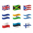 Collection of flags. Vector design. — Stock Vector