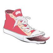Fashion pink shoe. Vector design. — Stock Vector