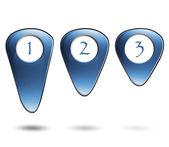 3D icons for website. — Stockvektor