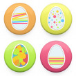 Happy easter eggs. Vector design. — Stock Vector