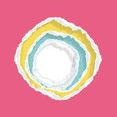 Renkli delik kağıt. vektör tasarımı. — Stok Vektör