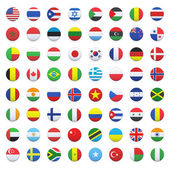 Collection of flag button design. Vector design. — Stock Vector