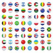 Collection of flag button design. Vector design. — Stock Vector