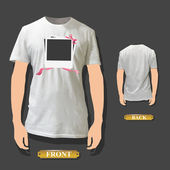 Photo gift printed on a shirt. Vector design. — Stock Vector
