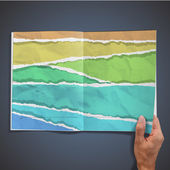 Colorful papers inside a book. Vector design. — 图库矢量图片