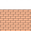 Brick wall. Vector illustration. — Stock Vector