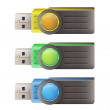 Set of pendrive. vector design  — Stockvektor