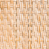 Yellow wicker background. Surface texture. — Stock Photo