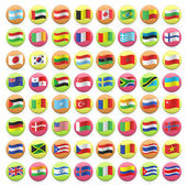 Collection of flag button design. Vector design. — Vector de stock