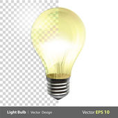 Lightbulb on. Realistic vector design. — Stock Vector