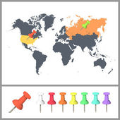 Worlds map over white background. Vector background — Wektor stockowy
