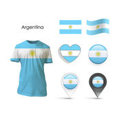 Set of Argentina design over white background — 图库矢量图片