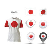 Set of Japan design over white background — 图库矢量图片