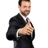 Young business man getting OK — Stock Photo