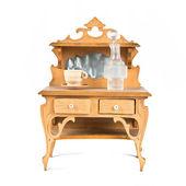 Dollhouse furniture over white background — Stock Photo
