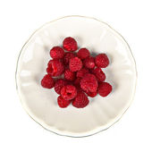 Group of raspberries over isolated white background — Stock Photo