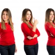 Young woman making Ok sign over white background  — Stock Photo #46822699