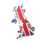 United Kingdom over white background — ストックベクタ