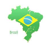 Brazil map over white background. Vector design  — Stock Vector