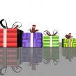 Illustration of colorful gift box — Stock Photo #19712729