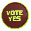 Vote yes — Foto Stock #19719283