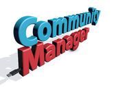 Community manager — Stock Photo