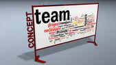 Obchodní plán vývojový diagram na tabuli. — Stock fotografie