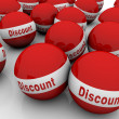 Discount spheres — Stock Photo