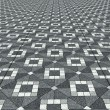 Geometric floor texture - Stock Photo