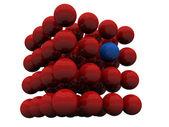 Red spheres — Stock Photo