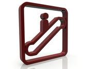 Escalator Information signal — Stock Photo
